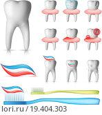 Купить «Dental Set», фото № 19404303, снято 23 октября 2018 г. (c) easy Fotostock / Фотобанк Лори