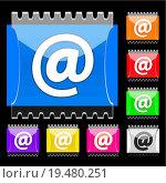 Купить «E-mail rectangular vector buttons», фото № 19480251, снято 20 апреля 2019 г. (c) easy Fotostock / Фотобанк Лори