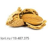 Купить «almond with broken shell», фото № 19487375, снято 18 июня 2019 г. (c) PantherMedia / Фотобанк Лори