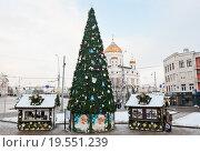 Новогодняя Москва (2016 год). Редакционное фото, фотограф E. O. / Фотобанк Лори