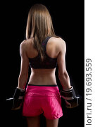 Купить «Beautiful woman kick boxing over dark background», фото № 19693559, снято 4 августа 2020 г. (c) easy Fotostock / Фотобанк Лори