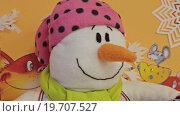 Купить «Портрет снеговика», видеоролик № 19707527, снято 24 декабря 2015 г. (c) Aleksey Popov / Фотобанк Лори