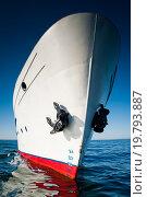 Купить «Белый корабль в водах озера Байкал», фото № 19793887, снято 15 сентября 2012 г. (c) Mark Agnor / Фотобанк Лори