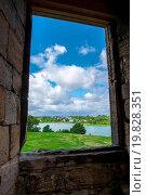 Купить «View through a stone framed window», фото № 19828351, снято 16 декабря 2019 г. (c) easy Fotostock / Фотобанк Лори