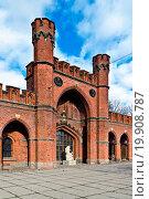 Купить «Rossgarten Gate. Kaliningrad, formerly Koenigsberg», фото № 19908787, снято 19 февраля 2019 г. (c) easy Fotostock / Фотобанк Лори