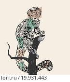 Купить «Разноцветная обезьяна», иллюстрация № 19931443 (c) Дмитрий Никитин / Фотобанк Лори
