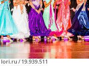 legs of woman weared in ballroom dress. Стоковое фото, фотограф Zoonar/J.Tarczynski / easy Fotostock / Фотобанк Лори