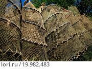 Купить «dry fishing nets», фото № 19982483, снято 16 января 2018 г. (c) easy Fotostock / Фотобанк Лори
