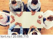 Купить «close up of business team sitting at table», фото № 20086715, снято 10 октября 2014 г. (c) Syda Productions / Фотобанк Лори