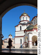 Ново-Афонский Симоно-Кананитский монастырь, Абхазия летом. Редакционное фото, фотограф Ольга Коретникова / Фотобанк Лори