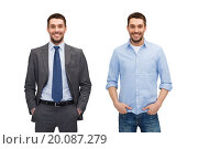 same man in different style clothes. Стоковое фото, фотограф Syda Productions / Фотобанк Лори