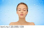Купить «young woman face and shoulders», фото № 20090139, снято 31 октября 2015 г. (c) Syda Productions / Фотобанк Лори