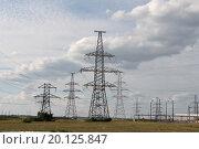 Высоковольтные линии электропередач. Стоковое фото, фотограф Сергей Блинов / Фотобанк Лори