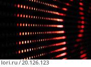 Красные огни на темном фоне. Стоковое фото, фотограф Сергей Блинов / Фотобанк Лори