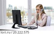 Купить «angry businesswoman with computer calling on phone», видеоролик № 20222575, снято 8 ноября 2015 г. (c) Syda Productions / Фотобанк Лори