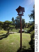 Japanese lantern on a background of blue sky. Стоковое фото, фотограф jannyjus / easy Fotostock / Фотобанк Лори