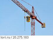Купить «Строительный кран крупным планом», фото № 20275183, снято 10 января 2016 г. (c) Сергей Трофименко / Фотобанк Лори