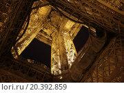 Купить «FRANCE, PARIS - 10 SEP, 2014: Bottom view of the Eiffel tower.», фото № 20392859, снято 10 сентября 2014 г. (c) Losevsky Pavel / Фотобанк Лори