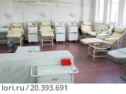 Купить «blood bank laboratory with Plasma Collection Systems and medical chairs», фото № 20393691, снято 10 ноября 2014 г. (c) Losevsky Pavel / Фотобанк Лори