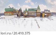 Купить «Kolomna Wooden Palace in Kolomenskoe at winter day in Moscow, Russia, Aerial view», фото № 20410375, снято 22 декабря 2013 г. (c) Losevsky Pavel / Фотобанк Лори