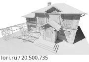 Купить «Макет коттеджа, частного дома», иллюстрация № 20500735 (c) Elizaveta Kharicheva / Фотобанк Лори