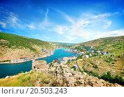 Купить «View of the bay of Balaklava in Crimea», фото № 20503243, снято 26 июня 2013 г. (c) easy Fotostock / Фотобанк Лори