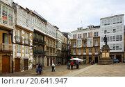 Купить «raditional galician architecture at city square of Viveiro», фото № 20641947, снято 1 июля 2015 г. (c) Яков Филимонов / Фотобанк Лори