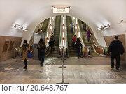 Купить «В московском метро», фото № 20648767, снято 16 января 2016 г. (c) Victoria Demidova / Фотобанк Лори