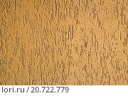 Желтая текстурированная штукатурка, фон. Стоковое фото, фотограф Tatyana Emelina / Фотобанк Лори