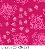 Купить «Абстрактные розовые цветы», иллюстрация № 20726291 (c) Музыка Анна / Фотобанк Лори