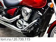 Купить «Фрагмент двигателя мотоцикла», фото № 20730115, снято 10 января 2016 г. (c) Chere / Фотобанк Лори