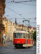 Чешский трамвай (2010 год). Редакционное фото, фотограф Ольга Галахова / Фотобанк Лори