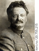Купить «Russia: c. 1924 A portrait of Marxist revolutionary and Red Army commander Leon Trotsky in a military uniform.», фото № 20755215, снято 30 июня 2015 г. (c) age Fotostock / Фотобанк Лори
