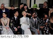 Купить «Mika, Tilda Swinton during AltaRoma AltaModa, Valentino's fashion show, Rome, Italy 10/07/2015.», фото № 20775199, снято 9 июля 2015 г. (c) age Fotostock / Фотобанк Лори