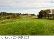 Купить «Golfcourse and clubhouse», фото № 20869203, снято 23 июля 2018 г. (c) PantherMedia / Фотобанк Лори