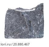 Купить «specimen of Slate mineral stone isolated», фото № 20880467, снято 17 августа 2018 г. (c) PantherMedia / Фотобанк Лори