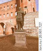Купить «Retro looking Torri Palatine Turin», фото № 20901727, снято 25 июня 2019 г. (c) PantherMedia / Фотобанк Лори