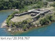Купить «Aerial view of Fort Sherman at Toro Point, Panama Canal, Panama», фото № 20918767, снято 23 марта 2019 г. (c) PantherMedia / Фотобанк Лори