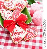 Печенья валентинки. Стоковое фото, фотограф Елена Поминова / Фотобанк Лори