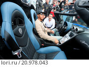 Купить «Lewis Hamilton is now stuck in Nevada's Death Valley after running out of fuel in his car during the Gumball 3000 Rally. Lewis Hamilton arrives at Gumball...», фото № 20978043, снято 29 мая 2015 г. (c) age Fotostock / Фотобанк Лори