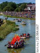 Купить «The Annual Raft Race Held On The River Ouse, Lewes, Sussex, UK.», фото № 20984667, снято 19 июля 2015 г. (c) age Fotostock / Фотобанк Лори