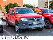Купить «Volkswagen Amarok», фото № 21002807, снято 17 ноября 2015 г. (c) Art Konovalov / Фотобанк Лори