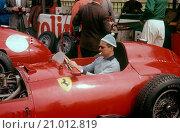 Maurice Trintignant in his Lancia Ferrari D50, British GP Aintree 20 July 1957 (2015 год). Редакционное фото, фотограф GPL-Geoff Goddard / age Fotostock / Фотобанк Лори