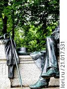 Купить «Theodor Fontane Monument in Neuruppin, Ostprignitz-Ruppin district, Brandenburg, Germany / Theodor Fontane Denkmal in Neuruppin, Landkreis Ostprignitz-Ruppin, Brandenburg, Deutschland», фото № 21017531, снято 23 июля 2011 г. (c) age Fotostock / Фотобанк Лори