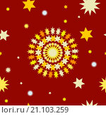 Купить «Абстрактный бесшовный фон в тёплых тонах», иллюстрация № 21103259 (c) Алёшина Оксана / Фотобанк Лори