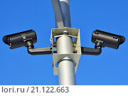 Камеры видеонаблюдения. Стоковое фото, фотограф Сергей Трофименко / Фотобанк Лори