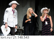 Купить «Miss America 2015 Kira Kazantsev is brought on stage during Journey's concert in Calgary to unexpectedly become an honorary Calgarian Featuring: Miss America...», фото № 21148543, снято 8 июля 2015 г. (c) age Fotostock / Фотобанк Лори