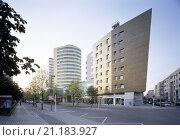 Купить «Berlin-Kreuzberg/ Stresemannstraße, sozialer Wohnungsbau von Z. Hadid», фото № 21183927, снято 20 января 2020 г. (c) age Fotostock / Фотобанк Лори
