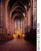 Paris, Sainte Chapelle/ Blick nach Osten. Стоковое фото, фотограф Uwe Dettmar / age Fotostock / Фотобанк Лори