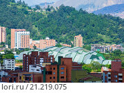 Купить «Panoramic of the City of Medellin, Antioquia, Colombia», фото № 21219075, снято 7 ноября 2012 г. (c) age Fotostock / Фотобанк Лори